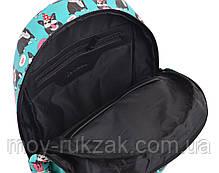 "Рюкзак подростковый кожаный Okey dokey ST-28, ""YES"", 554976, фото 3"