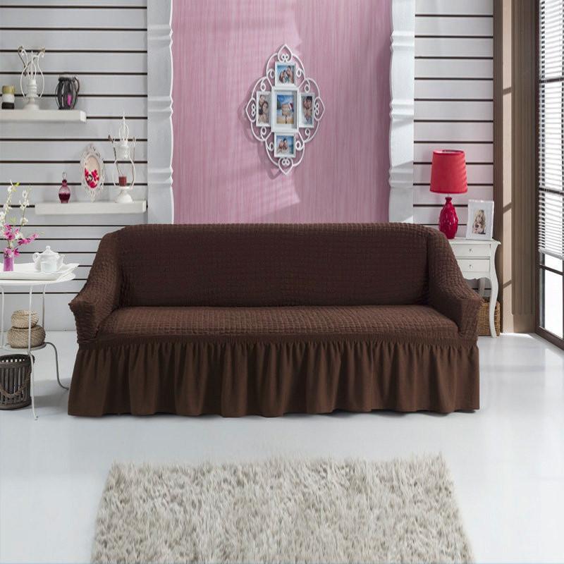 Чехол на диван трехместный, Турция Шоколадный