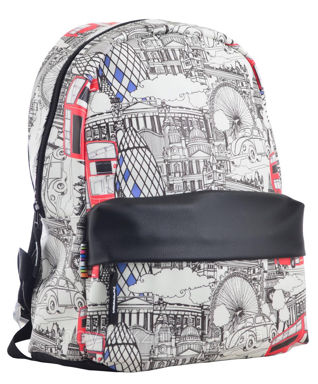"""Рюкзак подростковый кожаный London ST-28, """"YES"""", 555520"""