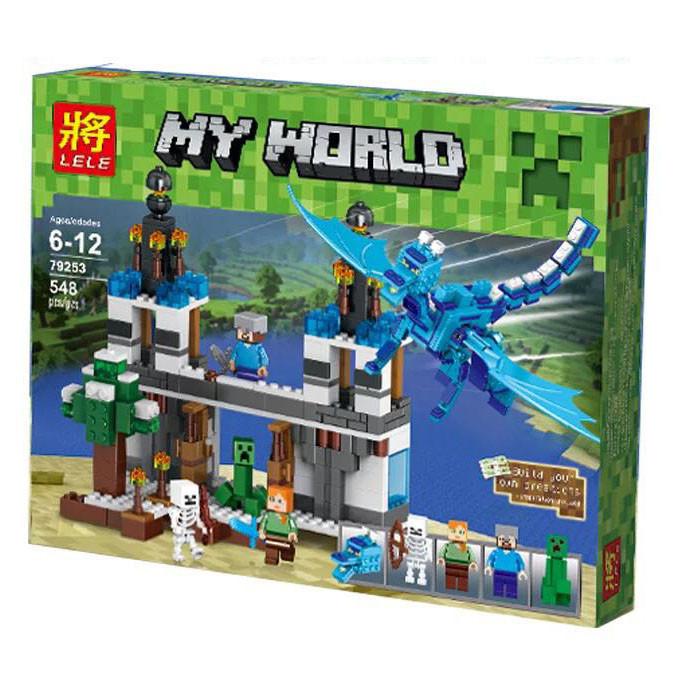 Конструктор Lele 79253 My World Minecraft (Майнкрафт) Синий дракон 548 дет.