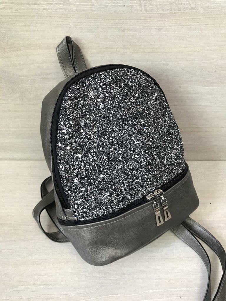 2b20e1de1579 Модный стильный женский рюкзак с блестками из эко кожи: продажа ...