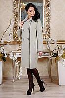 Стильное женское демисезонное пальто в 4х цветах В-1088 EU-2798