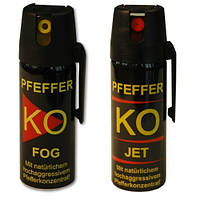 Газовый слезоточивый баллончик для самообороны Klever KO FOG 50 мл. (облаго)