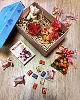 Подарочный набор с брелочком мишка тедди