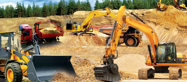 Фото строительной техники на карьере