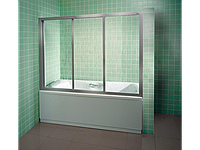 Шторка для ванны RAVAK AVDP3-150 сатин+transparent