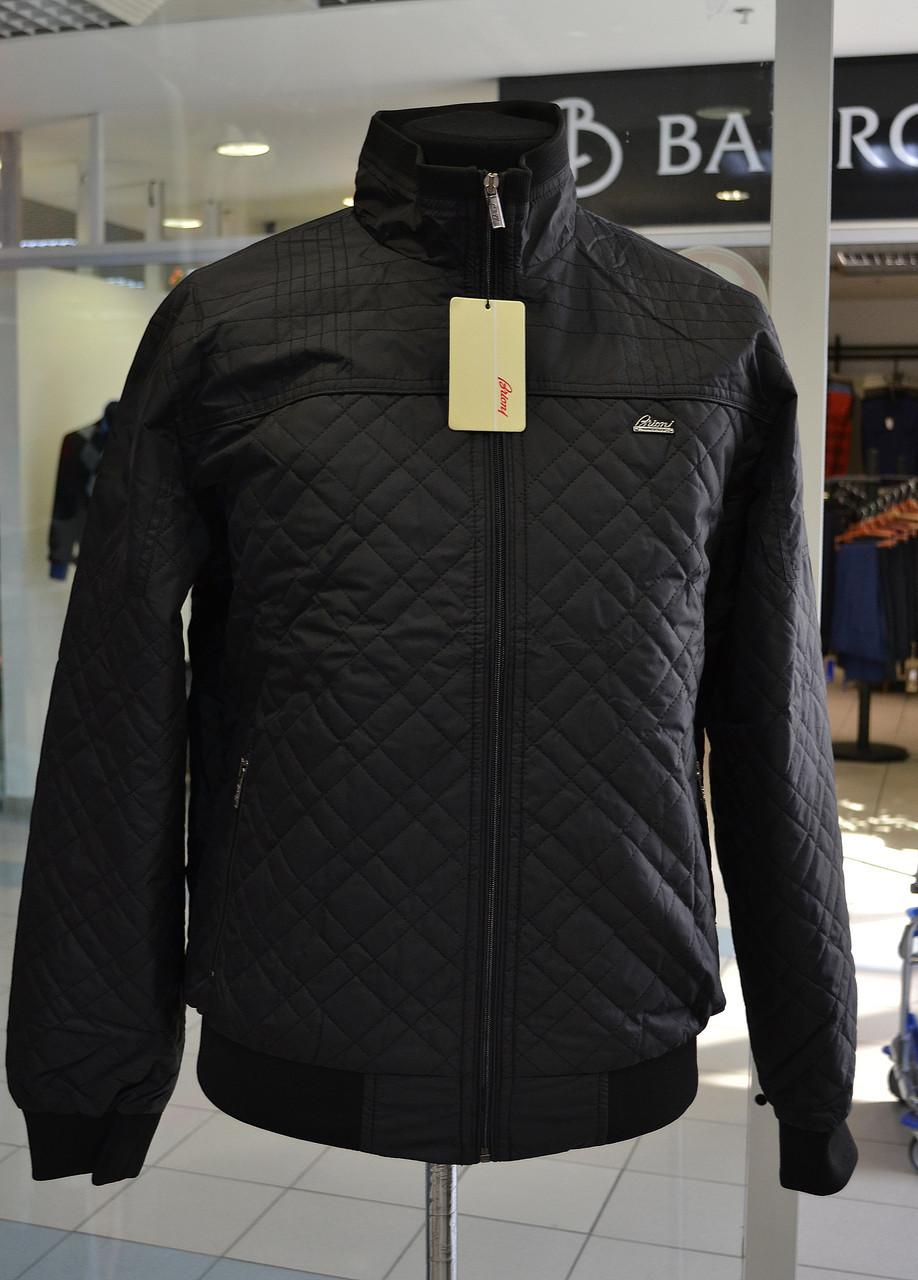 Мужская куртка Brioni черная Молния, M, Новое, С манжетом, Черный