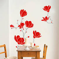 Интерьерная виниловая наклейка Цветы магнолии (самоклеющаяся пленка, наклейки на стены), фото 1