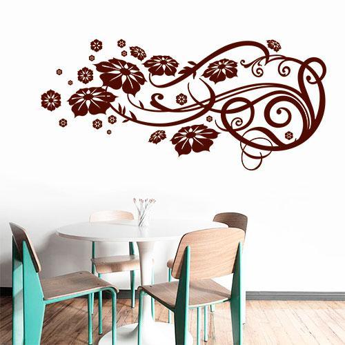 Интерьерная виниловая наклейка Орнамент (наклейки цветы, завитки, растения)