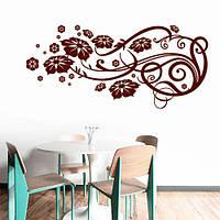 Интерьерная виниловая наклейка Орнамент (наклейки цветы, завитки, растения), фото 1