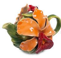 """Фарфоровый заварочный чайник """"Орхидея"""" (Pavone) CMS - 05/ 1"""