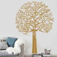 Интерьерная виниловая наклейка на обои Дерево жизни (наклейки деревья для фоторамок, большая, самоклеющаяся)