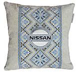 Подушка сувенир в автомобиль с логотипом марки авто ниссан Nissan, фото 4
