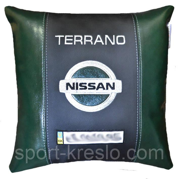 Подушка сувенир в автомобиль с логотипом марки авто ниссан Nissan