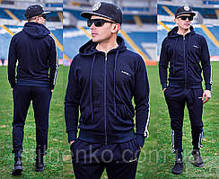 Мужской спортивный костюм, синий премиум класса