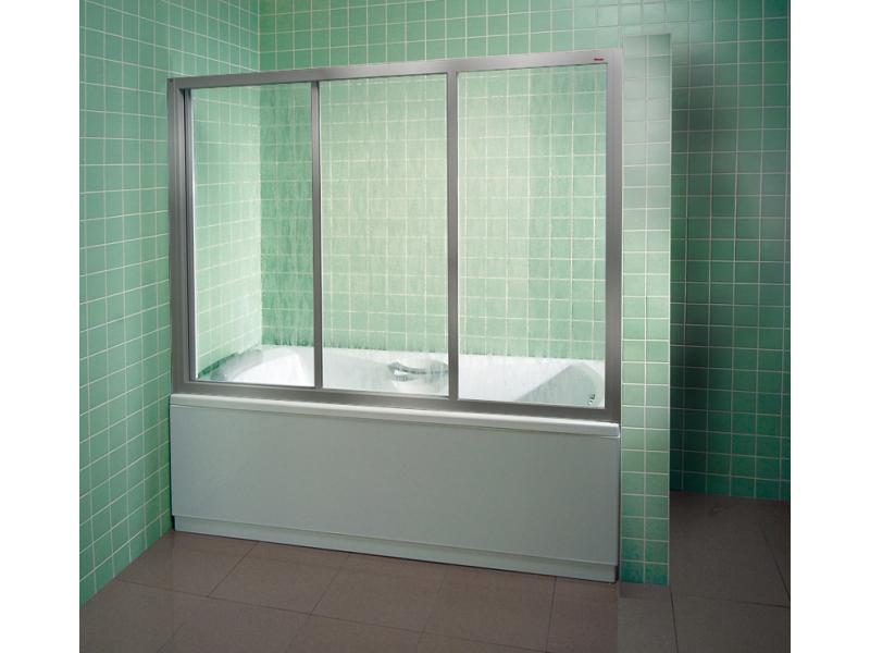 Шторка для ванны RAVAK AVDP3-160 сатин+transparent