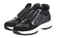 Женские кроссовки РР на высокой белой подшве с резинкой на подъёме
