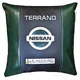 Подарок автомобилисту-Подушка с вышивкой логотипа ниссан Nissan, фото 5