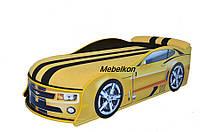 Кроватка машина Камаро желтая