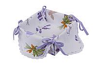 Салфетка в хлебницу, Лаванда, 35х35см, Эксклюзивные подарки, Кухонный текстиль, фото 1