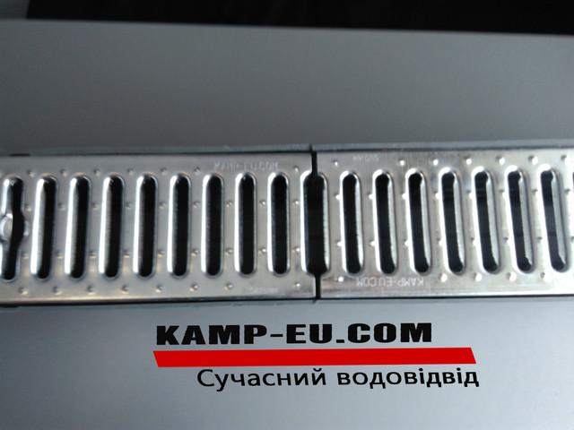 Водоотводный лоток с решеткой из крепкой стали