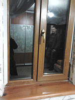 Пластиковое окно REHAU GENEO ПВХ 1050х1350 ламинат золотой дуб, фото 1