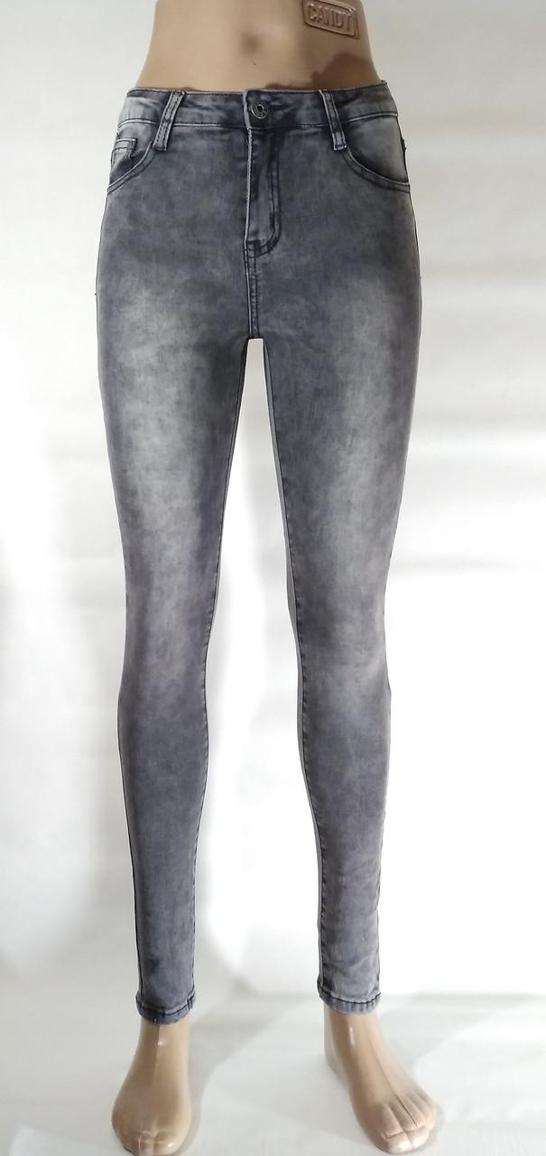 64d3da01034 Серые джинсы скинни с высокой посадкой. Артикул  D051  продажа