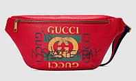 Сумка на пояс Gucci красная