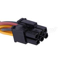 Кабель питания для видеокарт 6 pin PCI-E to 2x Molex, 14 см, фото 2
