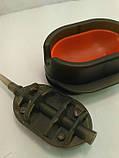 КОРОПОВА ГОДІВНИЦЯ МЕТОД Flat 80 грам+ пластикова пресовалка з кнопкою, фото 2