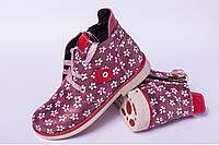 Детскиеботинки на шнурках, детская кожаная обувь от производителя модель ДЖ0209