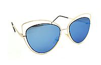 Голубые солнцезащитные очки женские Aedoll