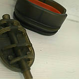 КАРПОВАЯ КОРМУШКА МЕТОД Флэт 90 грамм+ пластиковая пресовалка с кнопкой, фото 3