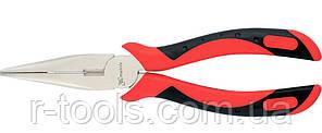 Длинногубцы GRAND 200 мм прямые никелированные двухкомпонентные рукоятки MTX 171389