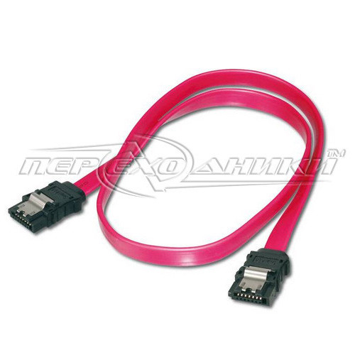 Кабель SATA-DATA для HDD, 50 см прямой с защелками