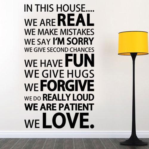 Интерьерная текстовая наклейка We love (виниловая самоклеющаяся пленка) матовая 600х1070 мм