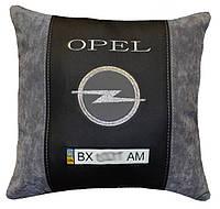 Подушка декоративная с вышивкой логотипа авто Opel опель