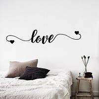 Интерьерная текстовая наклейка-надпись Love (виниловая самоклеющаяся пленка), фото 1