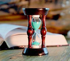 Красивые песочные часы с зеленым песком на 20 секунд