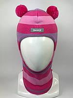 Весенняя шапка-шлем для девочки Мишка 1702-31
