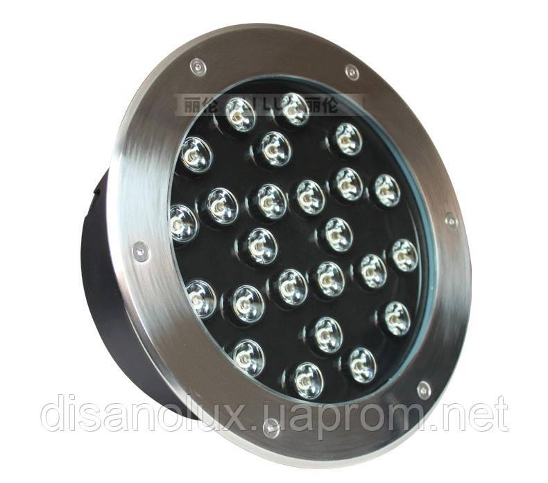 Светильник грунтовый GR-01 LED 24W  230V   размер  250мм*90мм  IP67   3000K