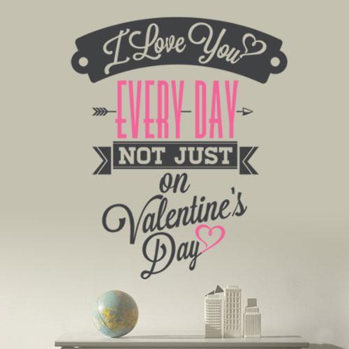 Интерьерная текстовая наклейка Валентинка (День святого Валентина)