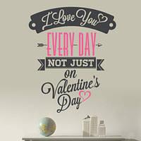 Интерьерная текстовая наклейка Валентинка (День святого Валентина), фото 1