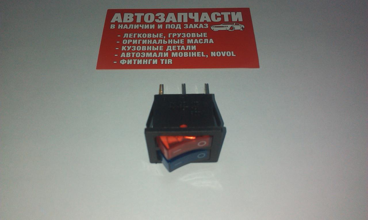 Включатель кнопочный КС-006 двойной на 2 положение (цвета в ассортименте)