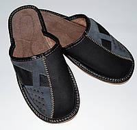 Домашние мужские кожаные тапочки
