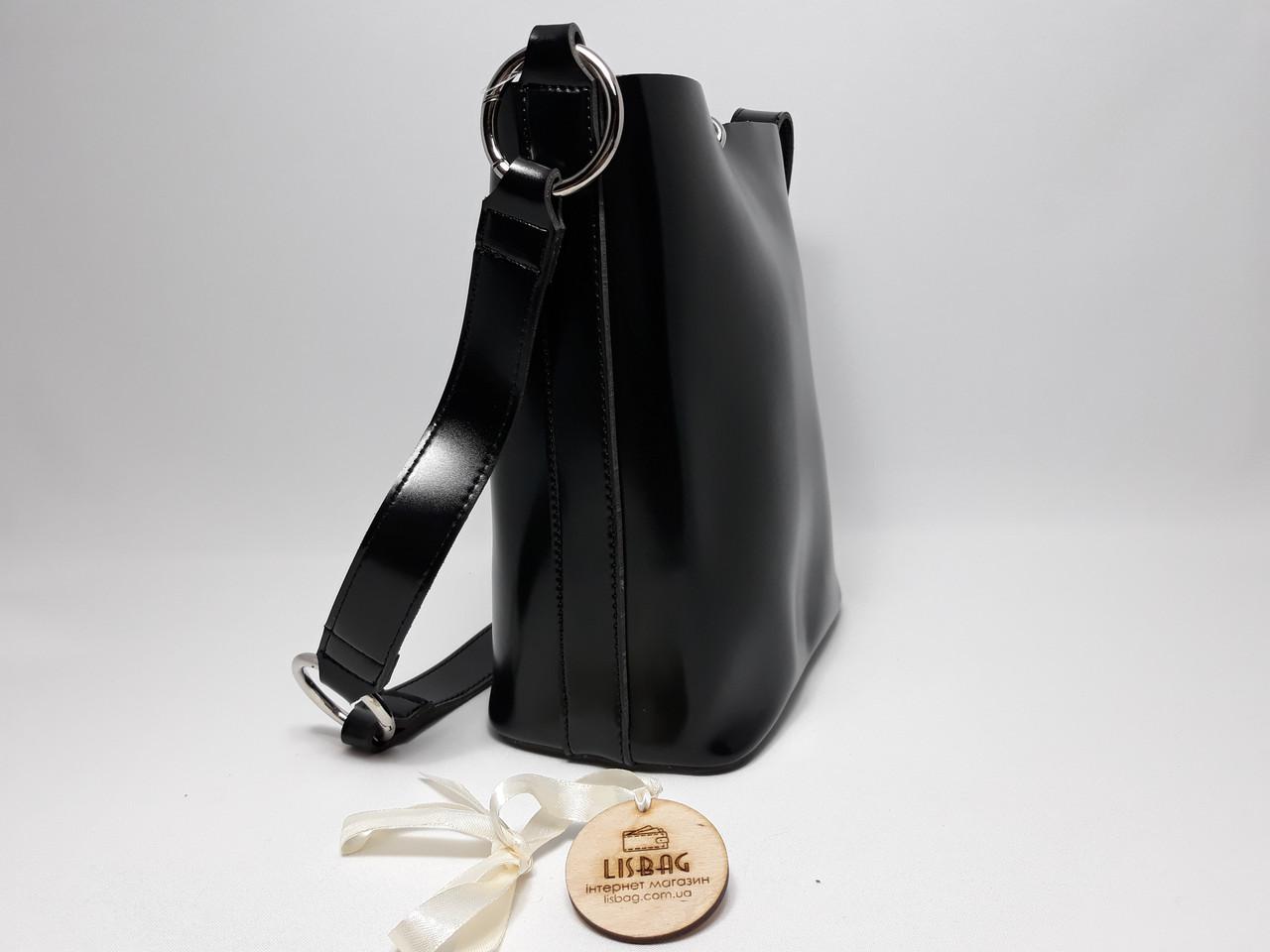 624ac23dfe84 ... Женская вместительная сумка мешок на плечо новинка, гладкая на ощупь  Черная, ...