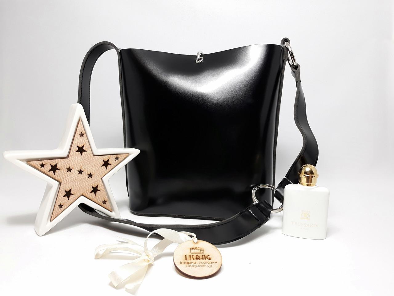 e4728aa0cacf Женская вместительная сумка мешок на плечо новинка, гладкая на ощупь  Черная, ...