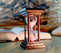 """Песочные Часы """"Квадрат"""" 5 минут. Розовый песок"""
