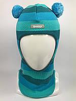 Весенняя шапка-шлем для мальчика Мишка 1702-32