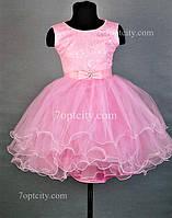 Платье нарядное для девочки 4-6 лет розовое Dina1802-25/030